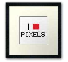 I Heart Pixels Framed Print