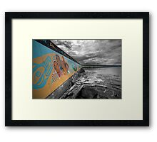 Land & Sea Mural Framed Print