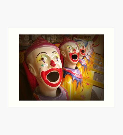 Fairground Clowns Art Print
