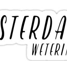 Amsterdam - Weteringschans Sticker