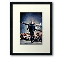 Bask - Bono in Paris Framed Print
