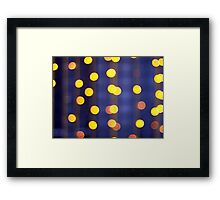 Abstract image - round, yellow and red lights Framed Print