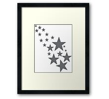 stars, cool, cute, awesome Framed Print