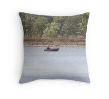 A good day to be in a boat Throw Pillow
