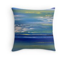 Meeting between Sky and See Throw Pillow