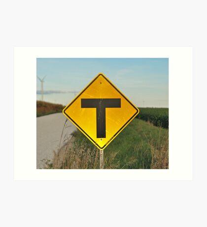"""T""eed Off Art Print"