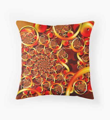 Autumn Feast (Fibonacci Julia) Throw Pillow