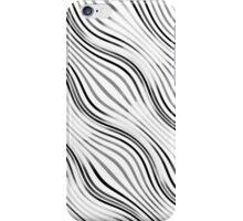Optical illusions geometric pattern 2  white iPhone Case/Skin