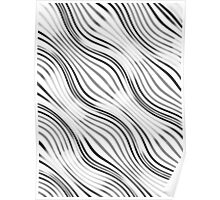 Optical illusions geometric pattern 2  white Poster