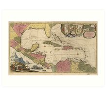 Old Map of the West Indies (1757) Art Print