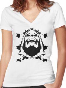 Ink Blot of Evil! Women's Fitted V-Neck T-Shirt