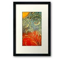 Flowing WILD and Free in Summer Sun Framed Print