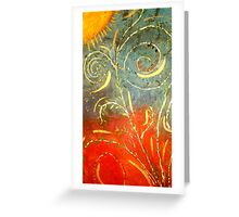 Flowing WILD and Free in Summer Sun Greeting Card