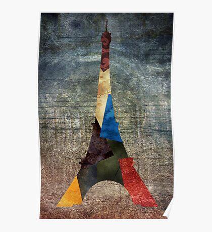 Eiffel Grunge Poster
