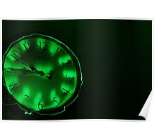 Clock Work - Green Poster