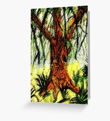 My Dream tree, watercolor Greeting Card