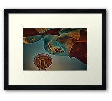 USA. Seattle. Space Needle & Museums. Framed Print