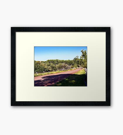 Bannack Road Framed Print