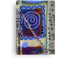 The Spiral Pane Moves to Music Canvas Print