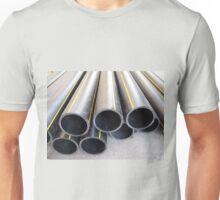 Big black pipe closeup plastic large diameter for the repair Unisex T-Shirt