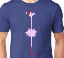 Pink Christmas Flamingo 2 Unisex T-Shirt