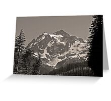 mt shuksan, washington, usa august 2011 Greeting Card