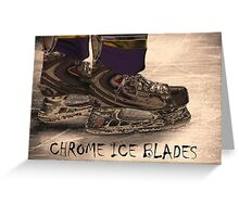 Chrome Ice Blades Greeting Card