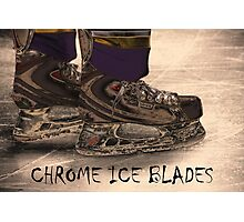 Chrome Ice Blades Photographic Print