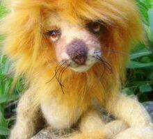 Lazarus Lion - Handmade bears from Teddy Bear Orphans Sticker