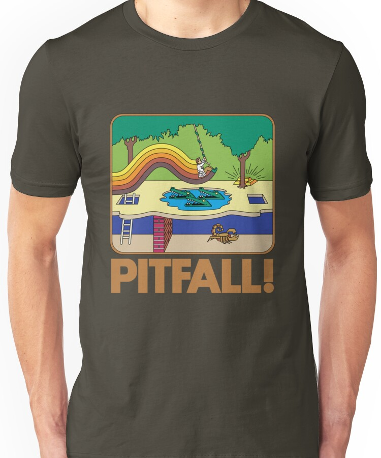 Pitfall! Atari 2600 Box Unisex T-Shirt