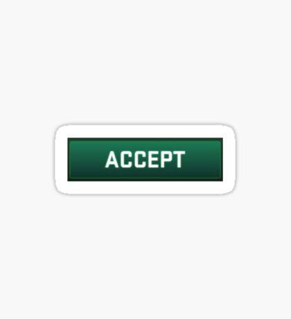 CSGO Competitive Match Accept Button Sticker
