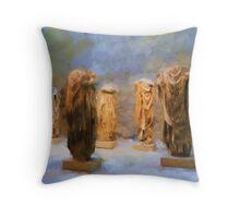 Headless Roman Statues Throw Pillow