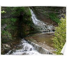 Cascading Waterfalls Poster