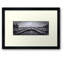 Millennium Bridge and St Pauls Cathedral  Framed Print