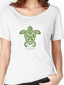Green Tribal Turtle / Grand Cayman Women's Relaxed Fit T-Shirt