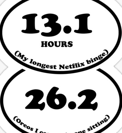 13.1/26.2 Netflix and oreos Sticker