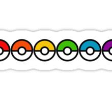 Rainbow Pokeballs v1 Sticker