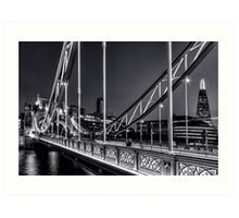 Tower Bridge, London at night. Art Print