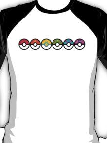 Rainbow Pokeballs v2 T-Shirt