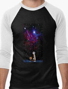 calvin and hobbes night sky Men's Baseball ¾ T-Shirt