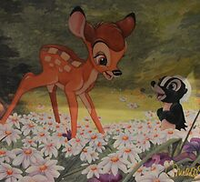 Thumper Rabbit Bambi Dear Flower Skunk Story Book Characters by notheothereye