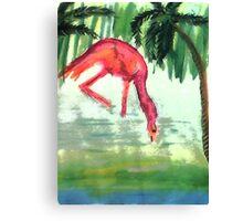 Flamingo #3 , watercolor Canvas Print