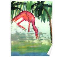 Flamingo #3 , watercolor Poster