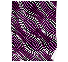 Optical illusions geometric pattern 5  purple and black Poster