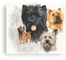 Cairn Terrier /Ghost Canvas Print