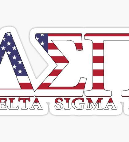 Delta Sigma Pi American Flag Sticker