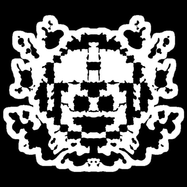 8 Bit Ink Blot - MegaMan by MightyRain
