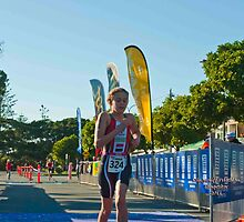Kingscliff Triathlon 2011 Finish line B5919 by Gavin Lardner