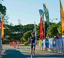 Kingscliff Triathlon 2011 Finish line B5939 by Gavin Lardner