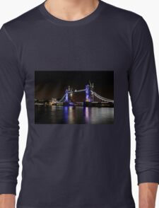 Tower Bridge, London night Long Sleeve T-Shirt